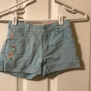 Kids light blue denim shorts